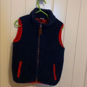 Carter's sheep wool navy blue vest